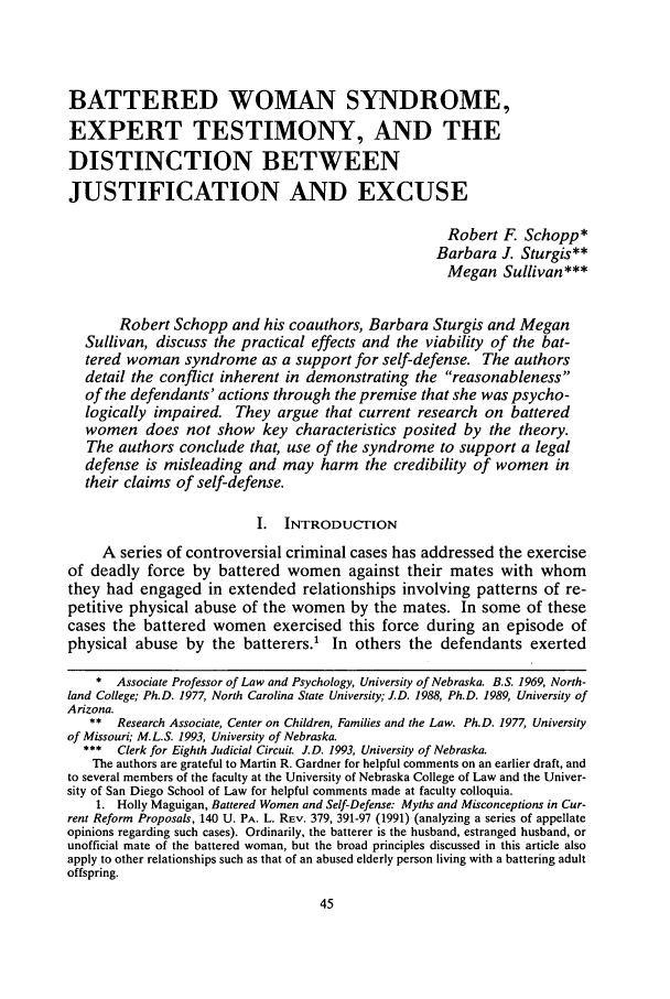handle is hein.journals/unilllr1994 and id is 55 raw text is: BATTERED WOMAN SYNDROME,