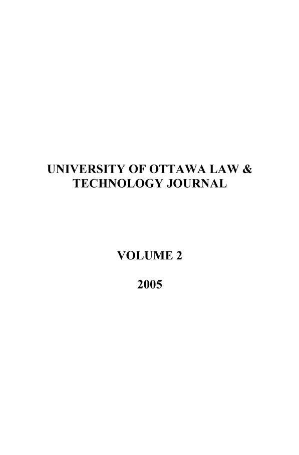 handle is hein.journals/uoltj2 and id is 1 raw text is: UNIVERSITY OF OTTAWA LAW &