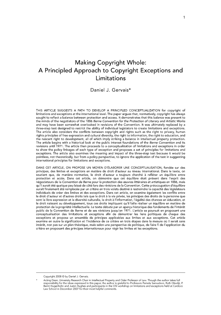 handle is hein.journals/uoltj5 and id is 1 raw text is: Making Copyright Whole: