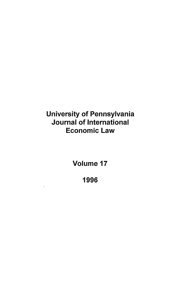 handle is hein.journals/upjiel17 and id is 1 raw text is: University of Pennsylvania