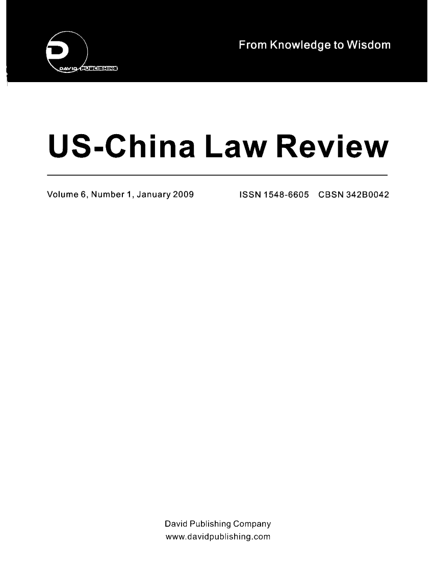 handle is hein.journals/uschinalrw6 and id is 1 raw text is: rs