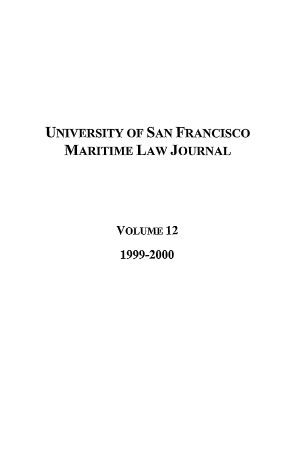 handle is hein.journals/usfm12 and id is 1 raw text is: UNIVERSITY OF SAN FRANcIsco