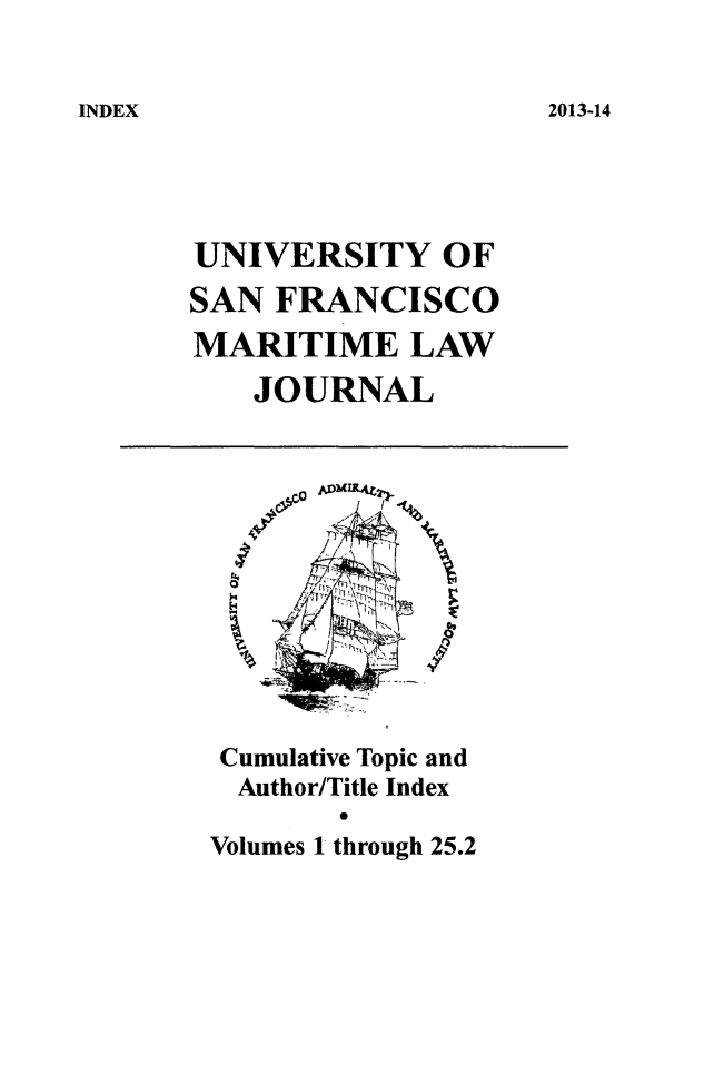 handle is hein.journals/usfm120 and id is 1 raw text is: 2013-14