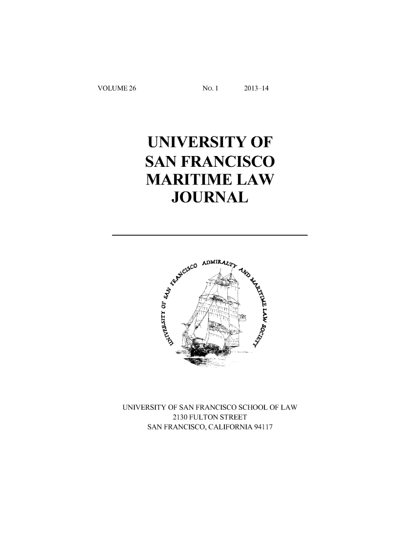 handle is hein.journals/usfm26 and id is 1 raw text is: VOLUME 26