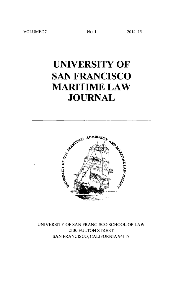 handle is hein.journals/usfm27 and id is 1 raw text is: VOLUME 27