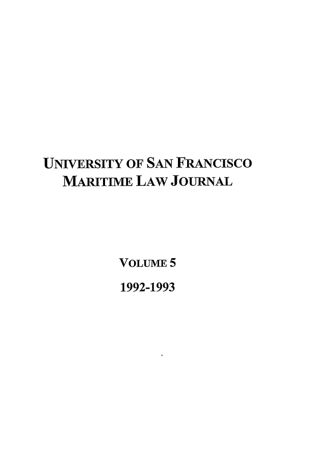 handle is hein.journals/usfm5 and id is 1 raw text is: UNIVERSITY OF SAN FRANcIsco