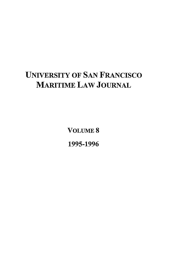 handle is hein.journals/usfm8 and id is 1 raw text is: UNIVERSITY OF SAN FRANcIsco