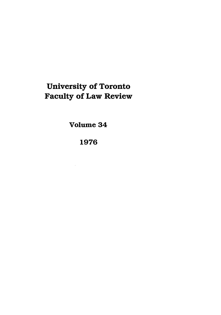 handle is hein.journals/utflr34 and id is 1 raw text is: University of Toronto