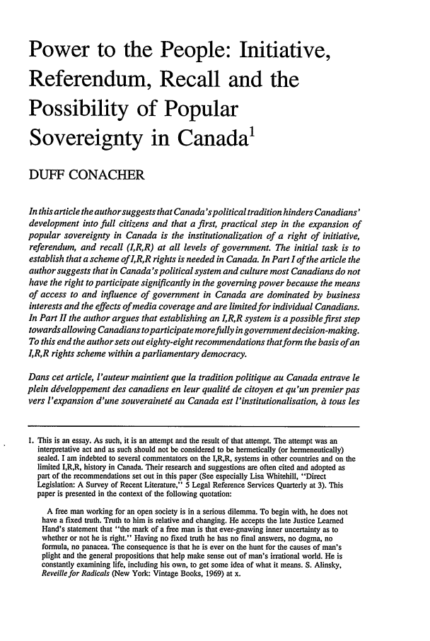 handle is hein.journals/utflr49 and id is 386 raw text is: Power to the People: Initiative,