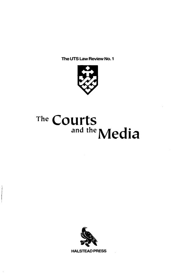 handle is hein.journals/utslr1 and id is 1 raw text is: The UTS Law Review No. 1