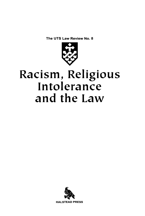 handle is hein.journals/utslr8 and id is 1 raw text is: The UTS Law Review No. 8