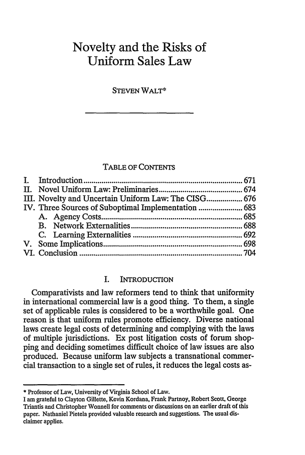 handle is hein.journals/vajint39 and id is 681 raw text is: Novelty and the Risks of