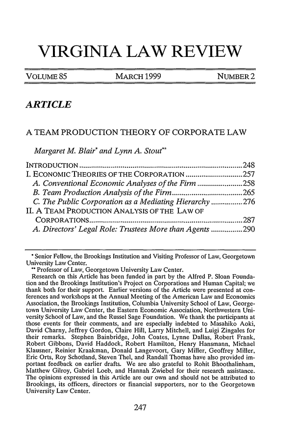 handle is hein.journals/valr85 and id is 257 raw text is: VIRGINIA LAW REVIEW