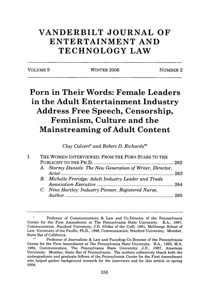 handle is hein.journals/vanep9 and id is 263 raw text is: VANDERBILT JOURNAL OF