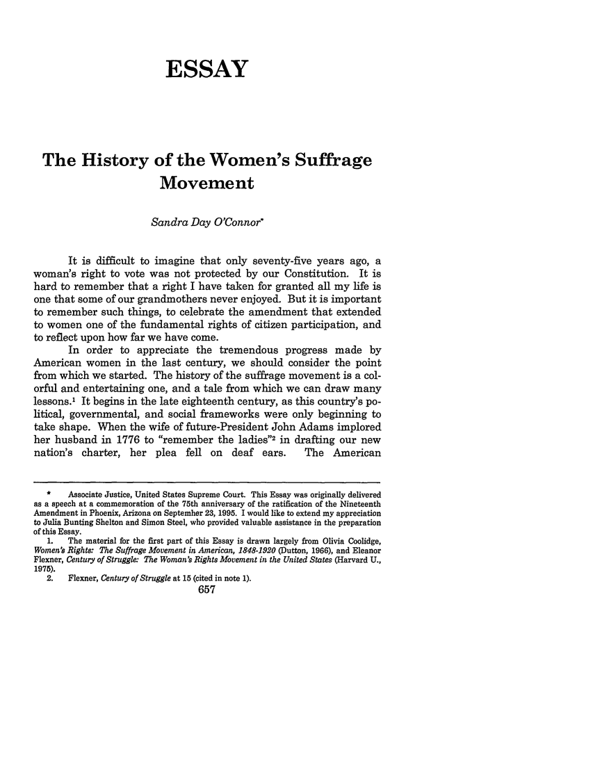 history of the women s suffrage movement the essay vanderbilt  what is