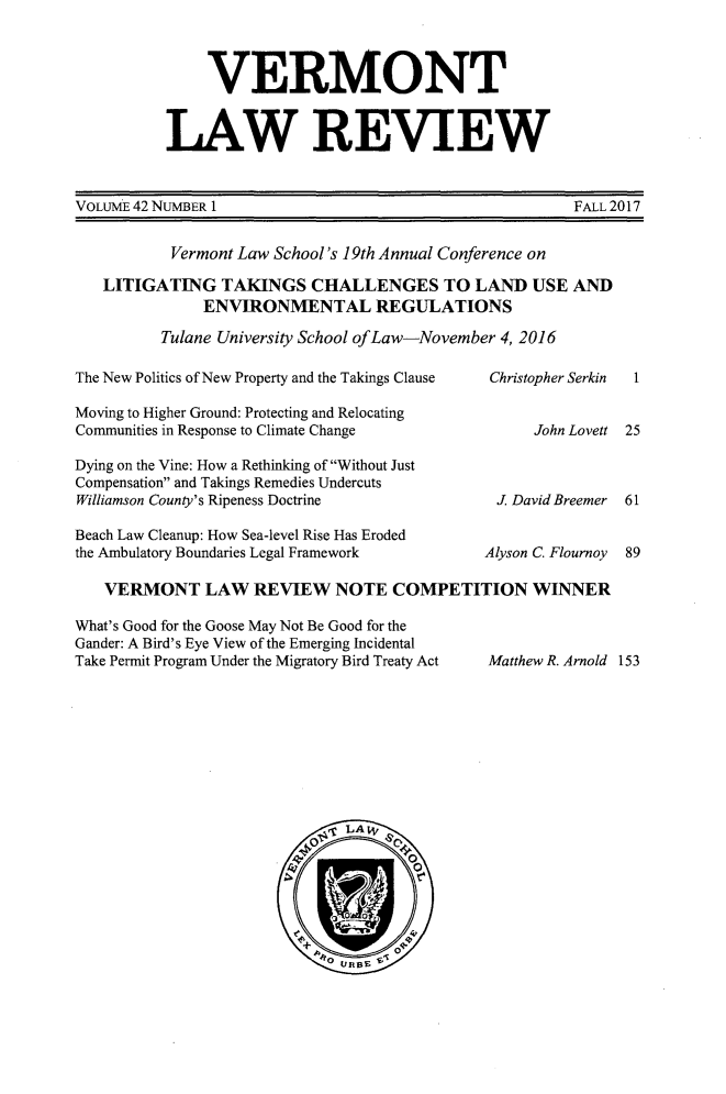 handle is hein.journals/vlr42 and id is 1 raw text is: 