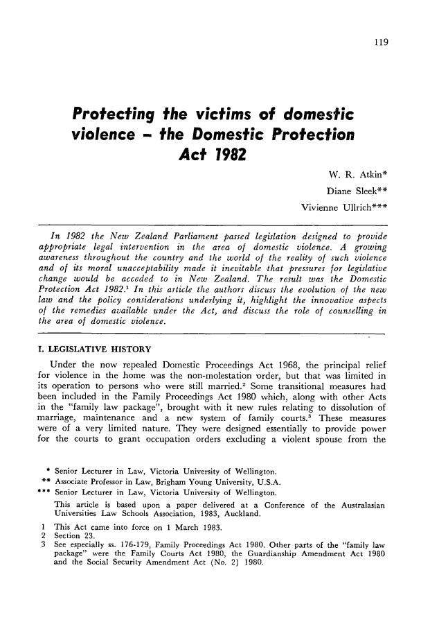 Protecting the Victims of Domestic Violence - The Domestic ...
