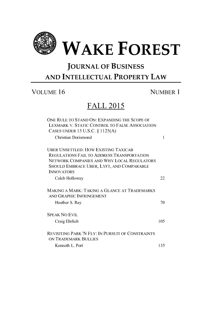 handle is hein.journals/wakfinp16 and id is 1 raw text is: 