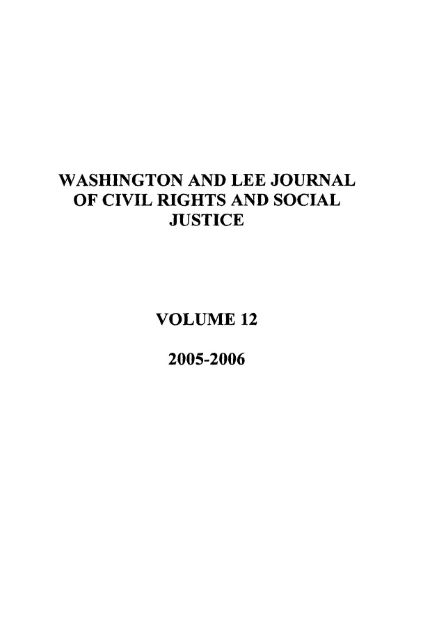 handle is hein.journals/walee12 and id is 1 raw text is: WASHINGTON AND LEE JOURNAL