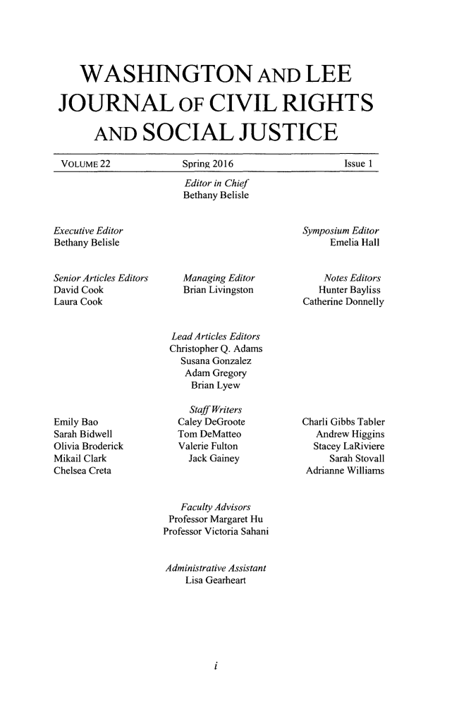 handle is hein.journals/walee22 and id is 1 raw text is: 
