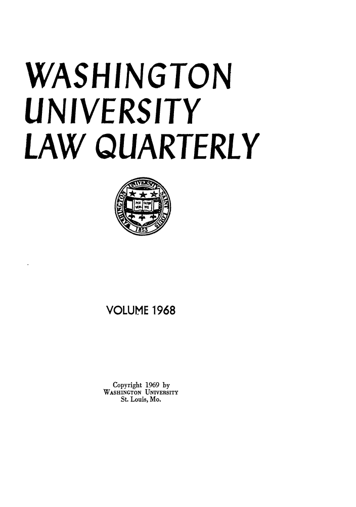 handle is hein.journals/walq1968 and id is 1 raw text is: WASHINGTON