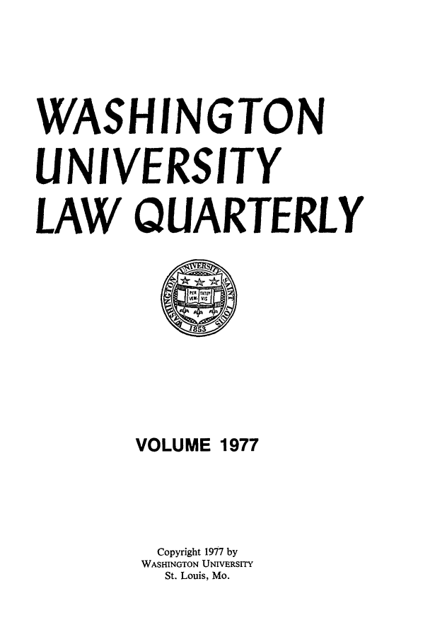 handle is hein.journals/walq1977 and id is 1 raw text is: WASHINGTON
