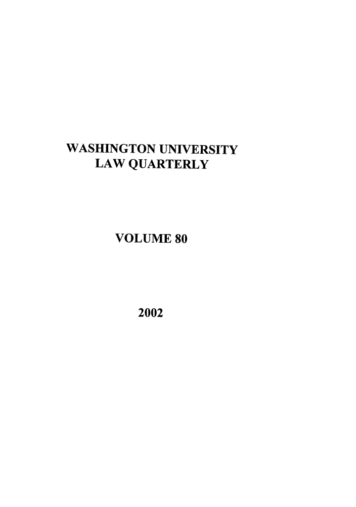 handle is hein.journals/walq80 and id is 1 raw text is: WASHINGTON UNIVERSITY