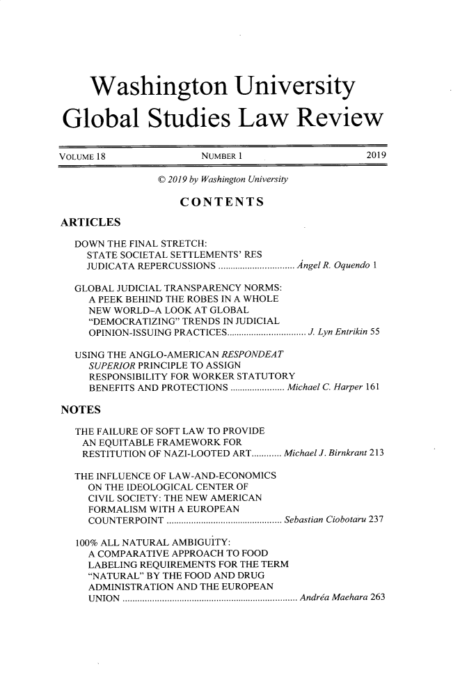 handle is hein.journals/wasglo18 and id is 1 raw text is: 