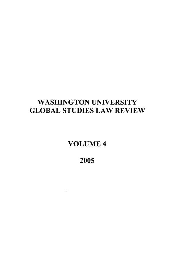 handle is hein.journals/wasglo4 and id is 1 raw text is: WASHINGTON UNIVERSITY