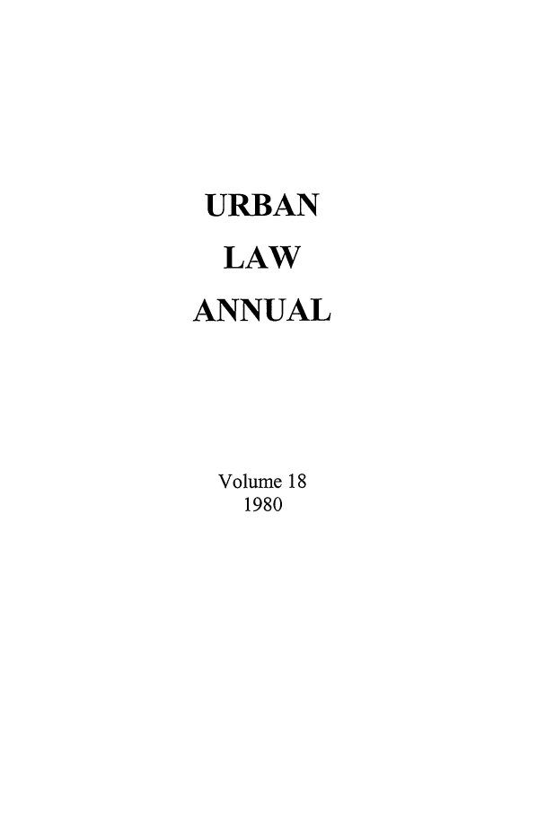handle is hein.journals/waucl18 and id is 1 raw text is: URBAN