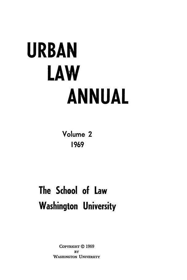 handle is hein.journals/waucl1969 and id is 1 raw text is: URBAN