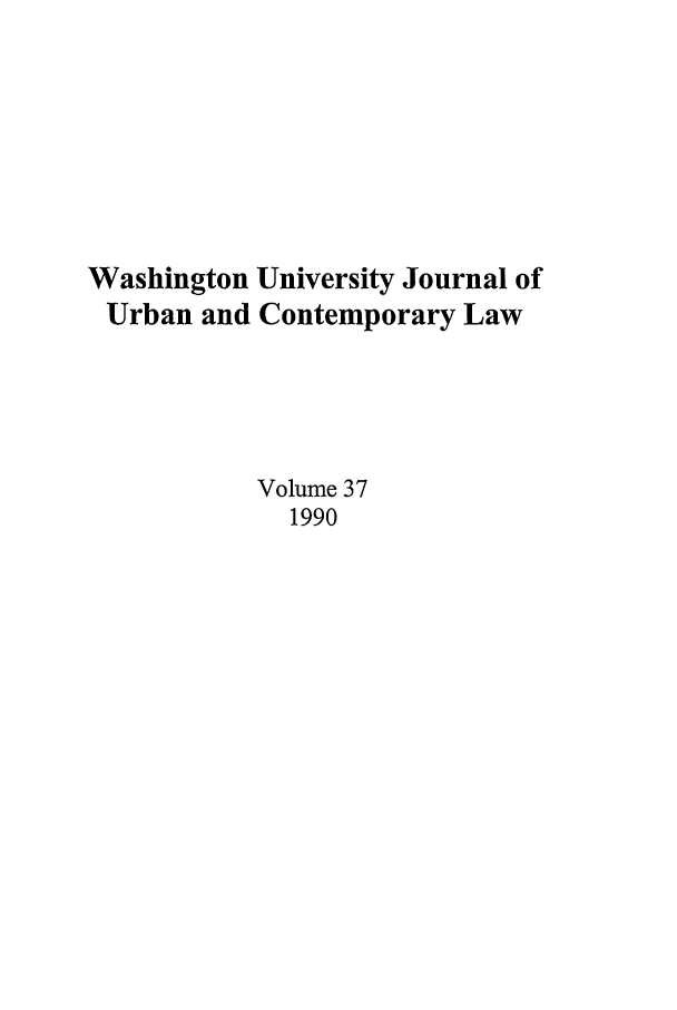 handle is hein.journals/waucl37 and id is 1 raw text is: Washington University Journal of