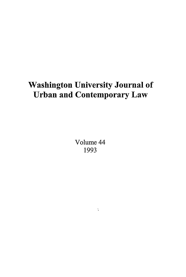 handle is hein.journals/waucl44 and id is 1 raw text is: Washington University Journal of