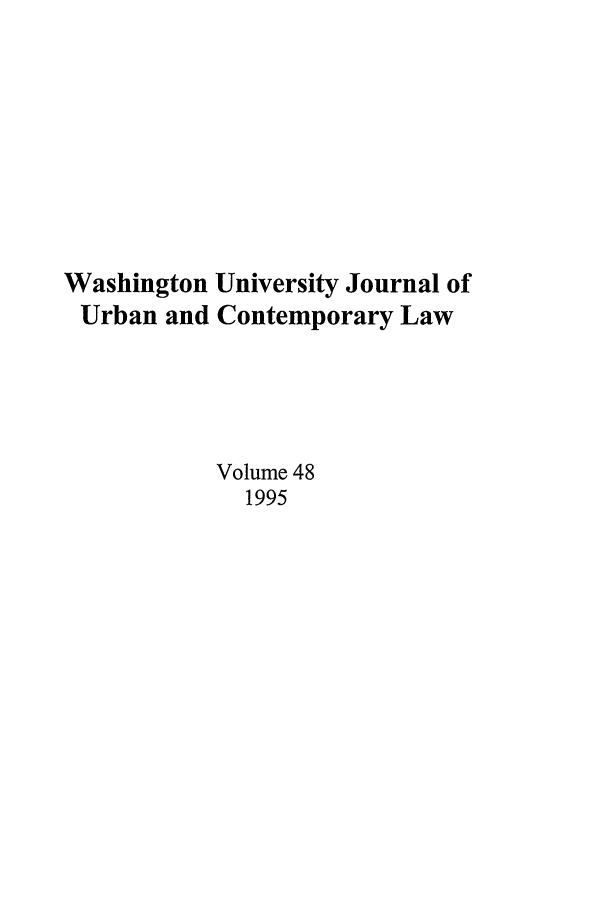 handle is hein.journals/waucl48 and id is 1 raw text is: Washington University Journal of