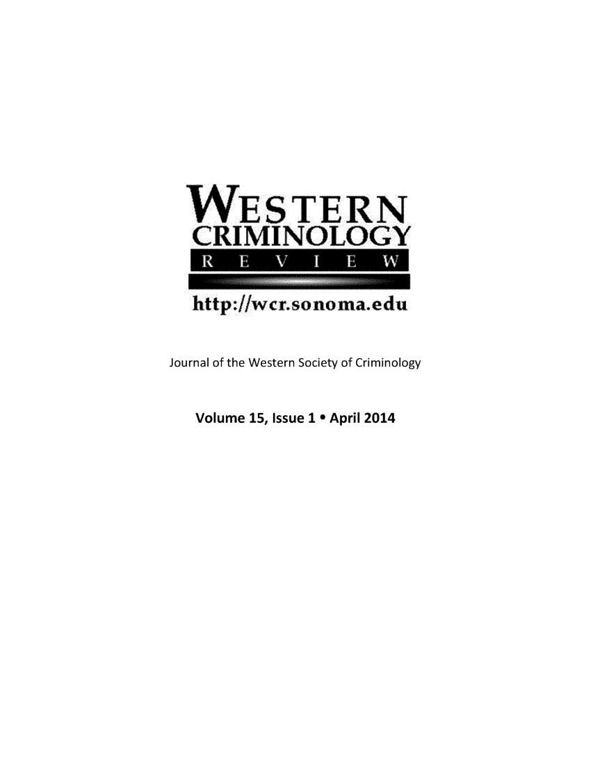 handle is hein.journals/wescrim15 and id is 1 raw text is: 