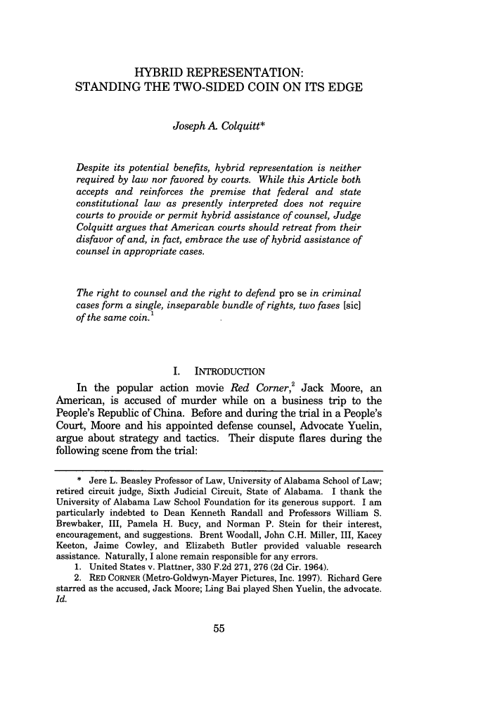 handle is hein.journals/wflr38 and id is 65 raw text is: HYBRID REPRESENTATION: