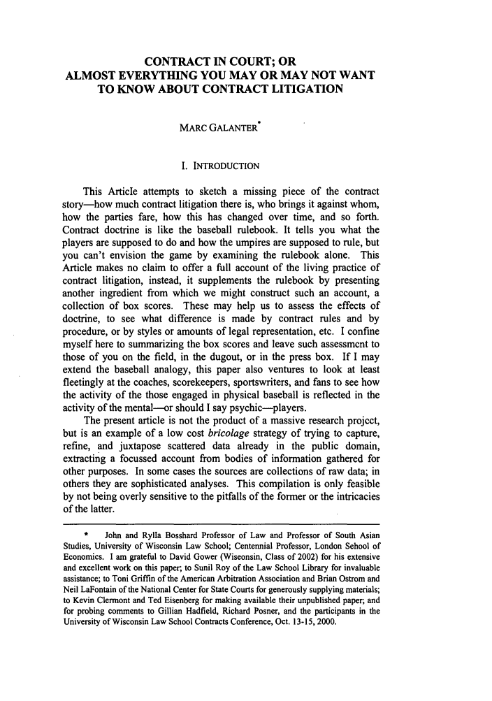 handle is hein.journals/wlr2001 and id is 591 raw text is: CONTRACT IN COURT; OR