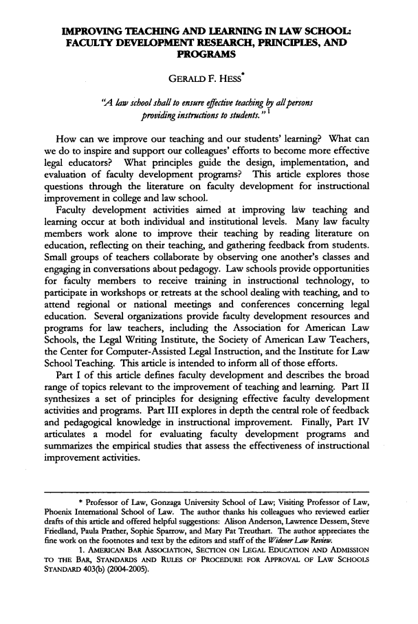 handle is hein.journals/wlsj12 and id is 453 raw text is: IMPROVING TEACHING AND LEARNING IN LAW SCHOOL: