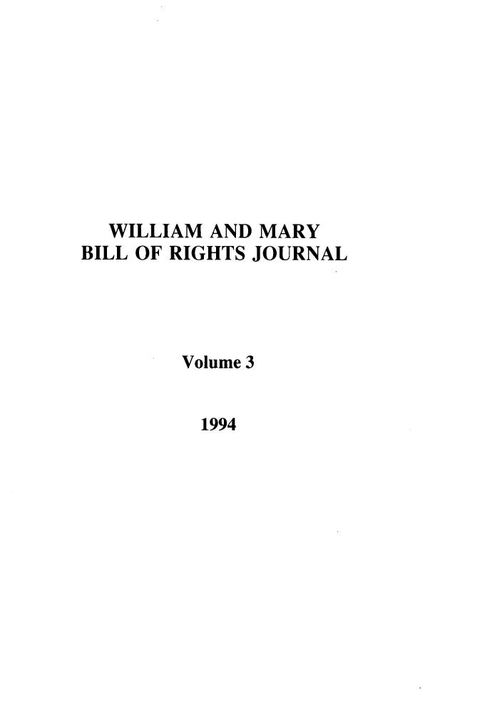 handle is hein.journals/wmbrts3 and id is 1 raw text is: WILLIAM AND MARY