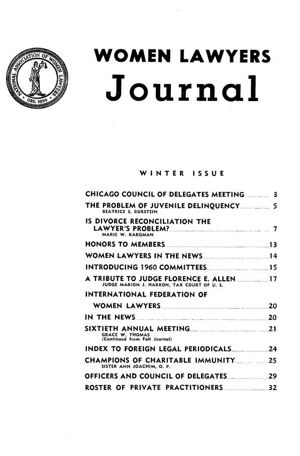handle is hein.journals/wolj46 and id is 1 raw text is: WOMEN LAWYERS