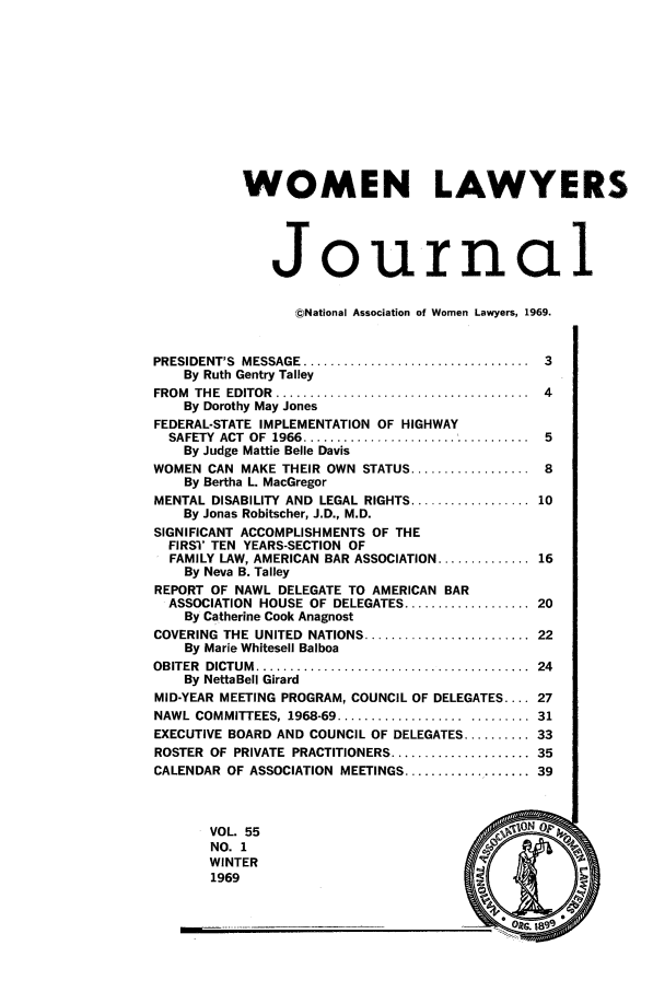 Women Lawyers Journal V. 55