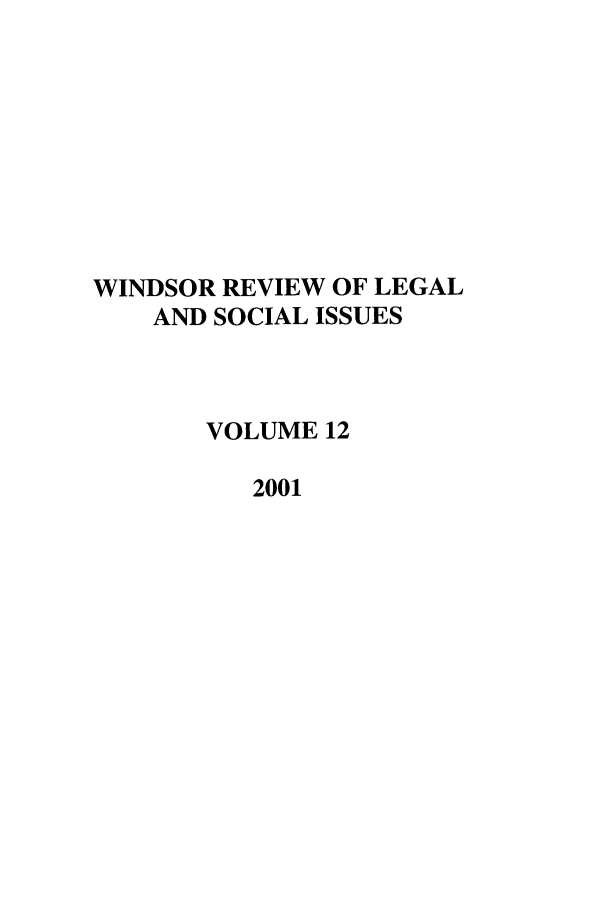 handle is hein.journals/wrlsi12 and id is 1 raw text is: WINDSOR REVIEW OF LEGAL