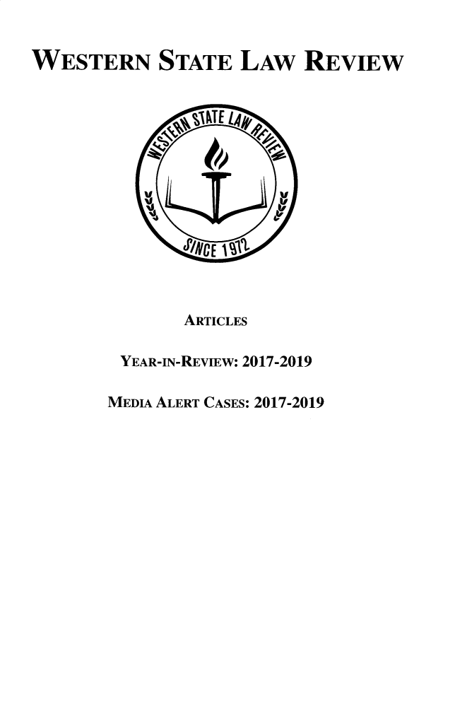handle is hein.journals/wsulr46 and id is 1 raw text is: 