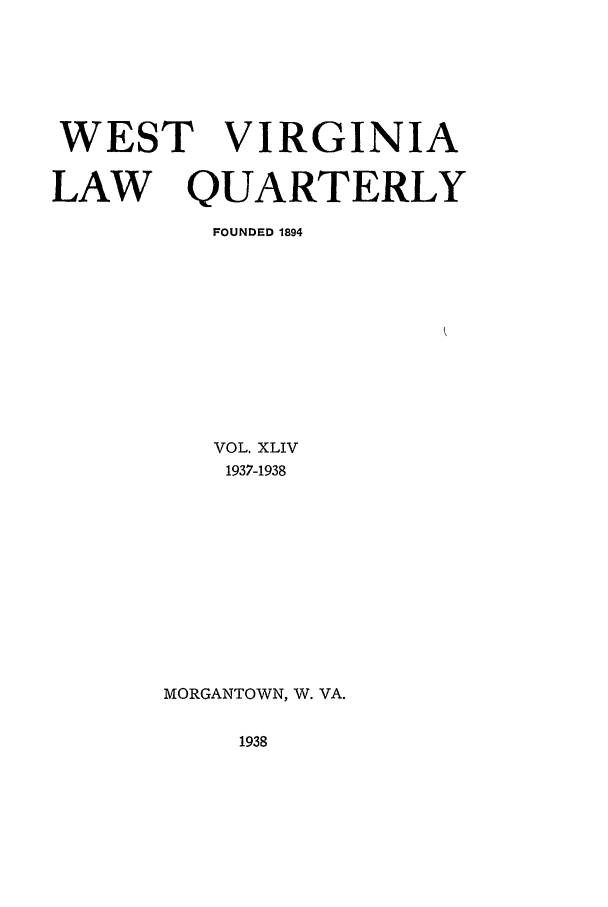handle is hein.journals/wvb44 and id is 1 raw text is: WEST VIRGINIA