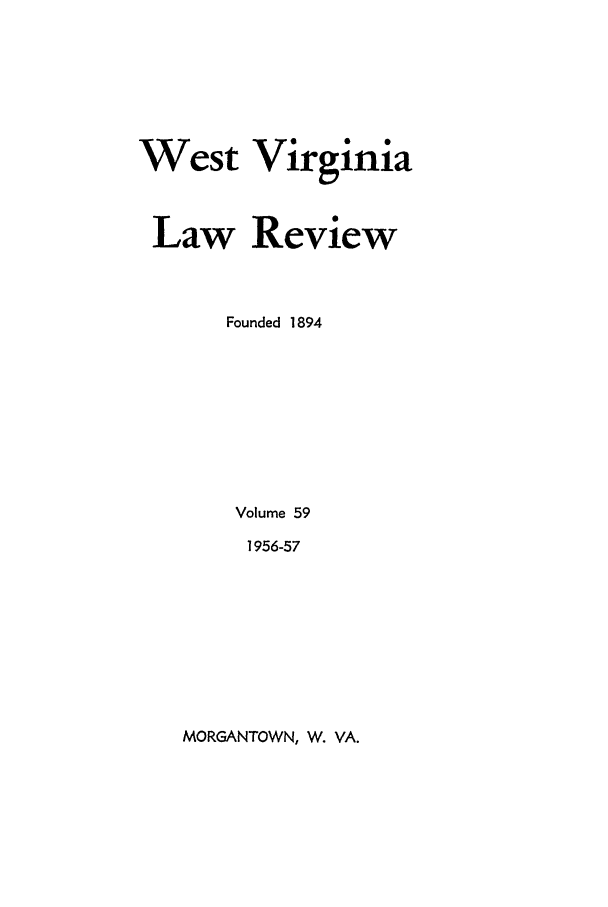 handle is hein.journals/wvb59 and id is 1 raw text is: West