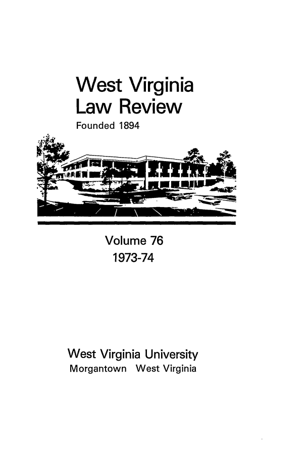 handle is hein.journals/wvb76 and id is 1 raw text is: West Virginia