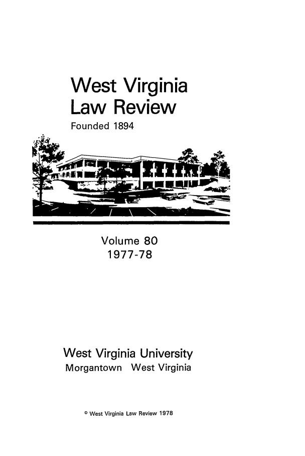 handle is hein.journals/wvb80 and id is 1 raw text is: West Virginia