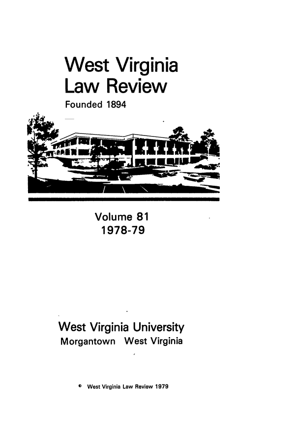 handle is hein.journals/wvb81 and id is 1 raw text is: West Virginia