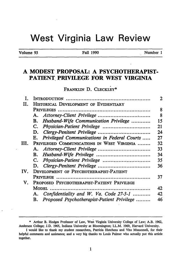 handle is hein.journals/wvb93 and id is 11 raw text is: West Virginia Law Review