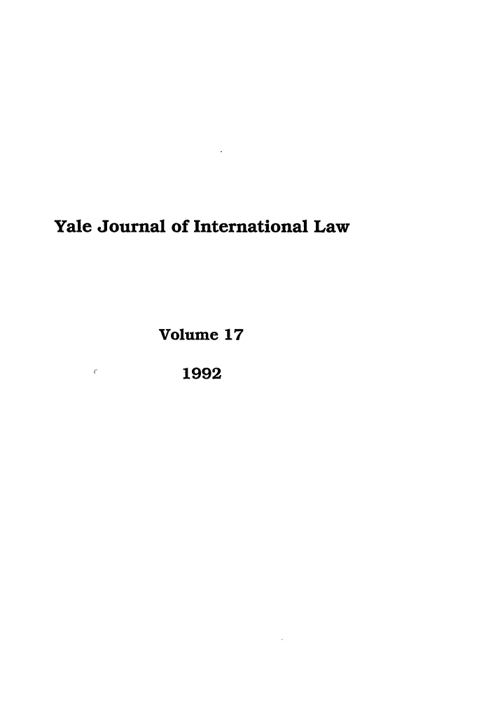 handle is hein.journals/yjil17 and id is 1 raw text is: Yale Journal of International Law